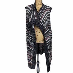 Eddie Bauer Long Sweater Vest Cardigan